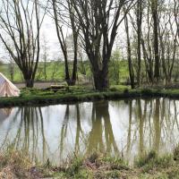 Sleeps 4 waterside bell tent - rural Suffolk