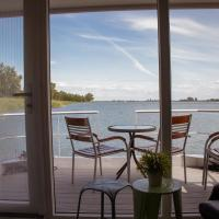 Houseboat uitzicht over veluwemeer, natuurlokatie, prachtige vergezichten
