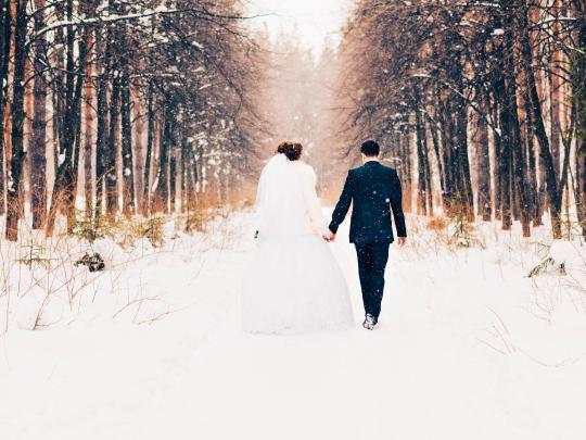 忘れられない冬の結婚式を挙げる場所