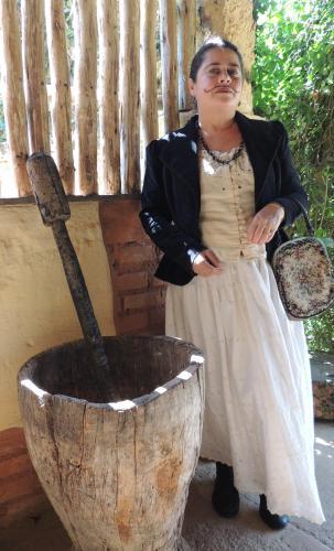 Cláudia em uma visita histórica...