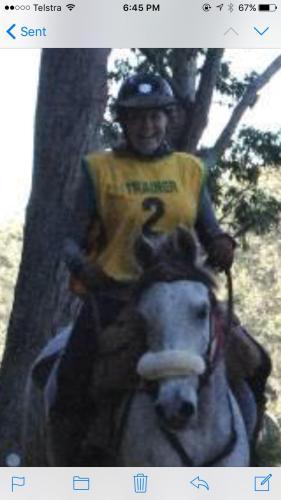 Vicki (and my horse Reuben)