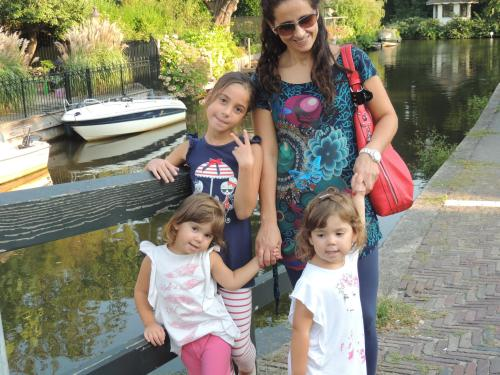 Stefania and her daughters, Giorgia, Alice and Diana