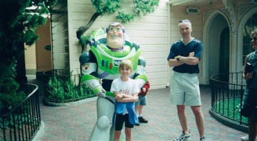 Kevin, Kimberley, and Buzz Lightyear