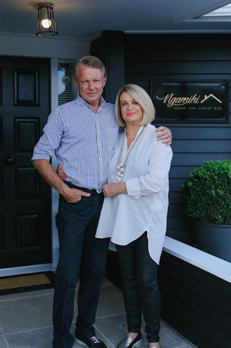 Leigh the owner of the lodge with her partner Mike.