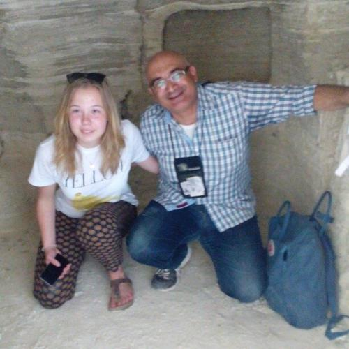 Fadi and Friend in Baptism site monk cave