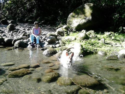 Enjoying the Rio Blanco river