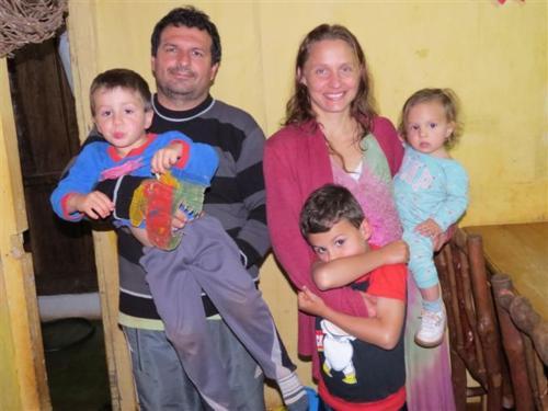Adriana y familia