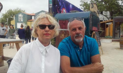 lydia et  fabrice  propriétaires  du  mobilhome  sur le camping cap soleil