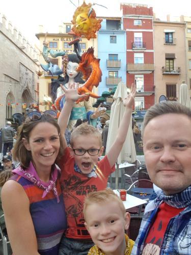 Þór, Hildur and our 2 boys
