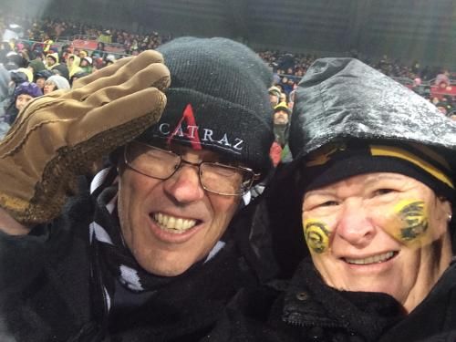 Alan and Jan (rugby fans!!)